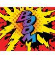 Comic boom vector image