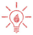 eco light bulb fabric textured icon vector image