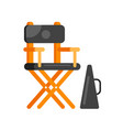 flat style movie directors chair vector image
