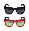 Realistic sunglasses vector image