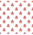 wedding cake pattern seamless vector image