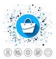 woman bag icon female handbag sign symbol vector image