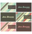retro business cards vector image vector image
