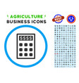 book-keeping calculator rounded icon with set vector image