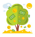 money tree symbol of successful business vector image