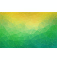 Triangle green and yellow gradient banner vector image
