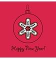 Christmas ball with snowflake vector image