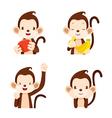 Monkey Actions Set vector image