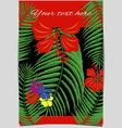 Tropical design cover vector image