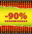 best offer 90 percent off vector image