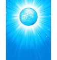 Blue disco rays with stars EPS 8 vector image