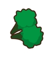 cartoon broccoli healthy food vector image