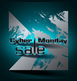 cyber monday sale colorful background vector image