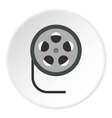 Film reel icon flat style vector image