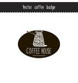 Hand drawn coffee brand design element vector image
