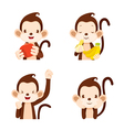 Monkey Actions Set vector image