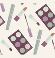 seamless gentle pattern with makeup mascara vector image