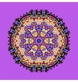 Violet seamless outlined mandala Unusual tribal vector image