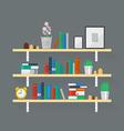 Wooden Bookshelf vector image
