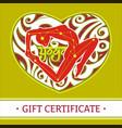 yoga gift certificate 2 vector image
