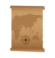 map paper antique old vector image