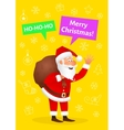 Santa Claus flat character isolated on yellow vector image