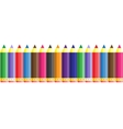 abstract color seamless school pencil pattern vector image