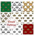 Royal crown seamless pattern background vector image vector image
