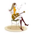 woman plays guitar vector image vector image