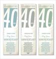 40 years Anniversary retro banner set vector image