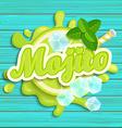 Mojito label splash vector image
