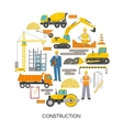 Round Construction Composition vector image