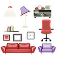 big apartment furniture set vector image