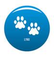 lynx step icon blue vector image