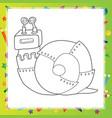 snail robot - coloring book vector image