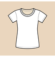 White Blank Shirt vector image