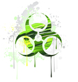 symbol of biological danger drawn with paint vector image vector image