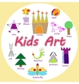 set of KIds Art drawings vector image