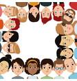 cartoon community people border frame image vector image