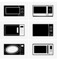 Microwave ovens vector image