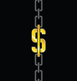 chains with dollar steel vector image