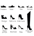 Shoes models for women vector image
