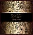 abstract background with flowers luxury black and vector image