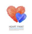 art paint heart vector image