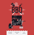 BBQ Party Poster vector image