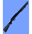 black painted shotgun on the side vector image
