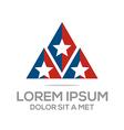 business creative star emblem logo design icon sol vector image