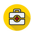 first aid icon on white background vector image