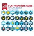 Flat weather Icons Set for Web and Mobile vector image