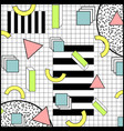 memphis style geometric colorful background vector image